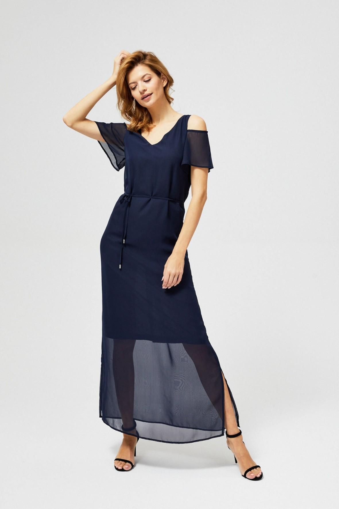 Sukienka damska maxi typu cold arms