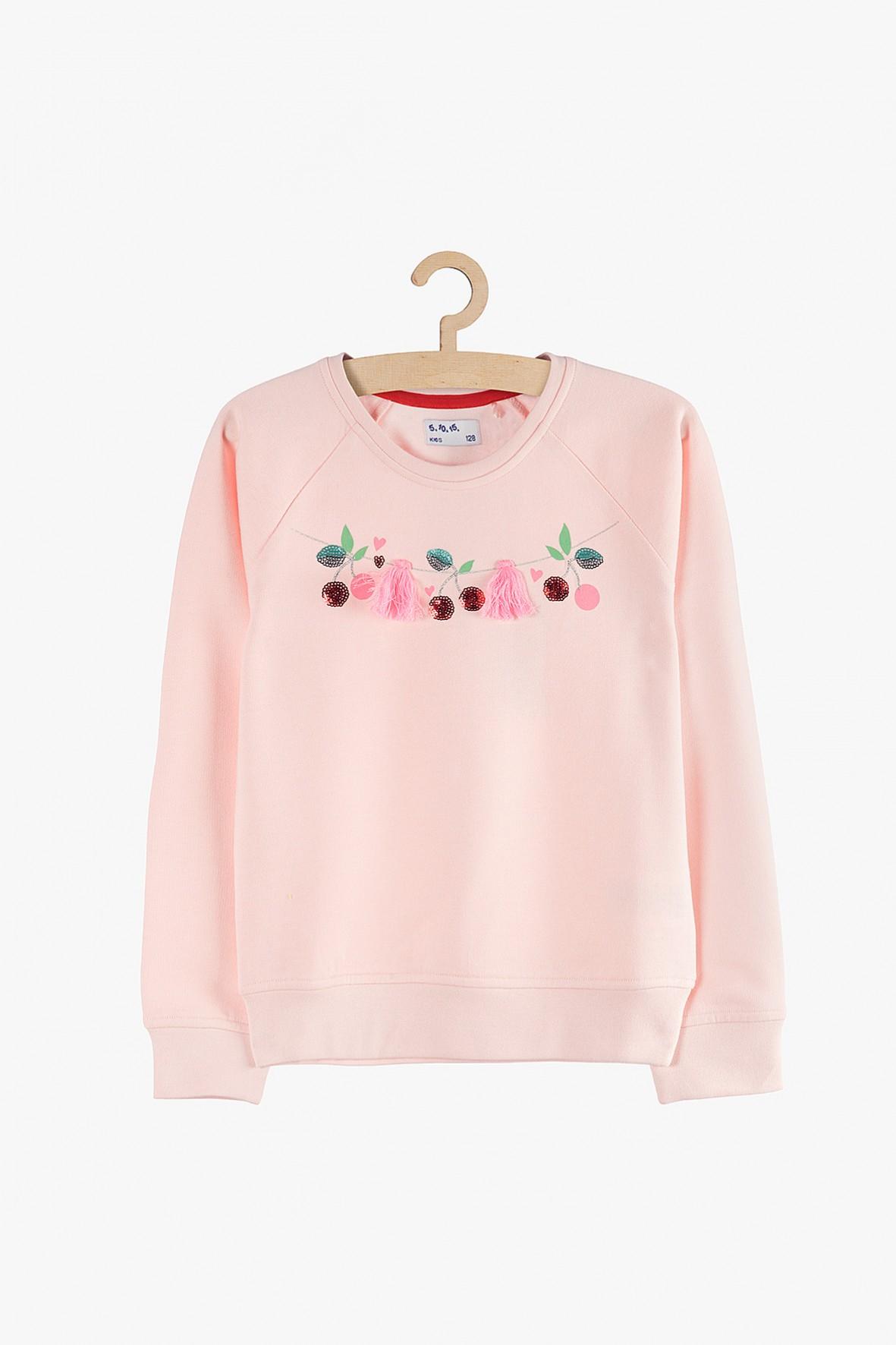 Bluza nierozpinana dziewczęca pastelowy róż