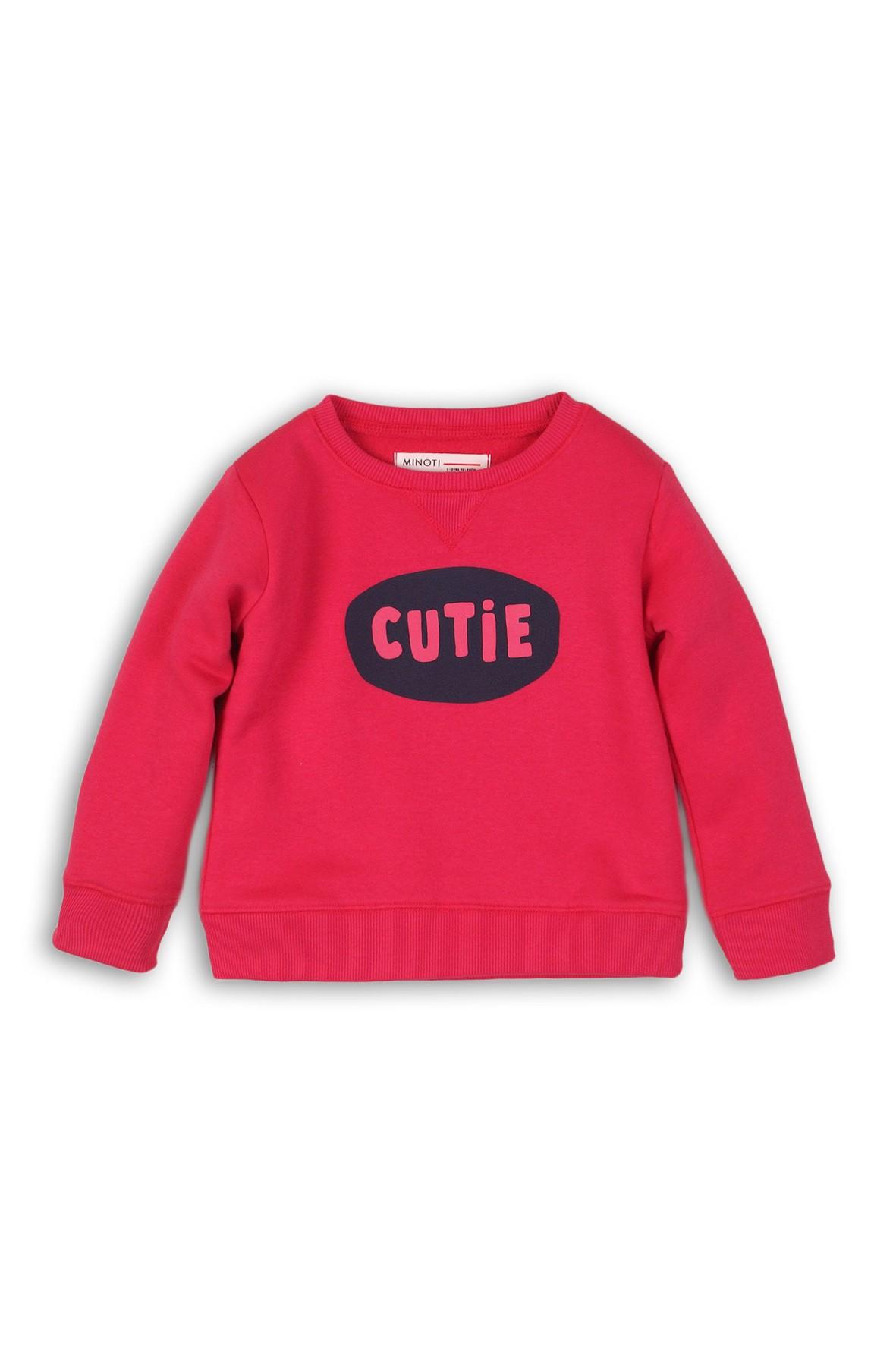 Bluza dresowa dziewczęca różowa