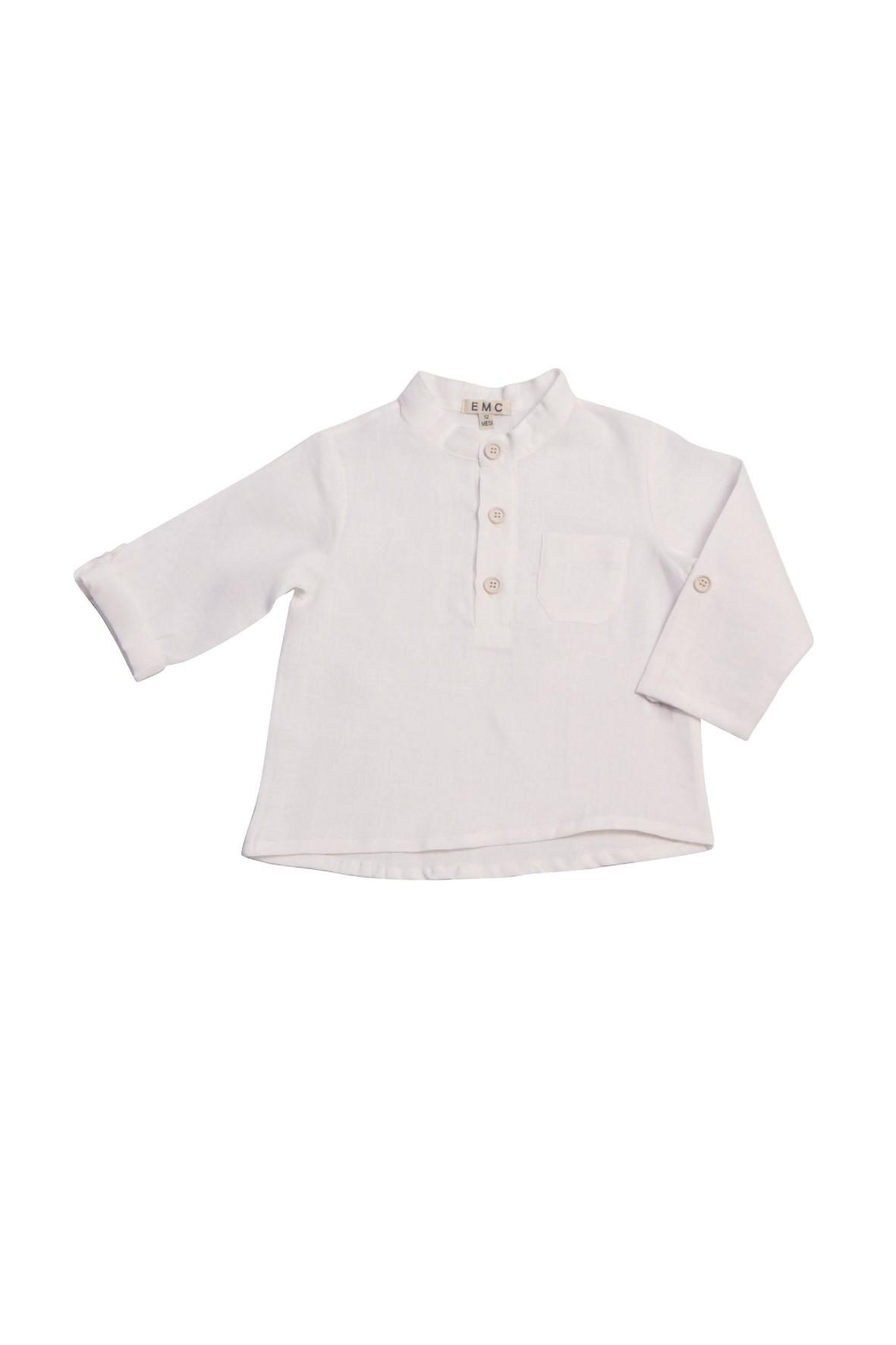 Biała koszula lniana dla chłopca