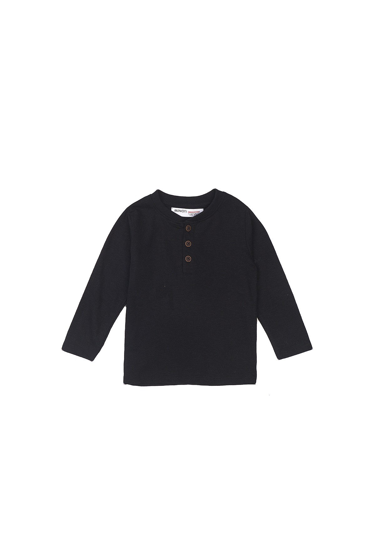 Bluzka chłopięca bawełniana czarna z długim rękawem
