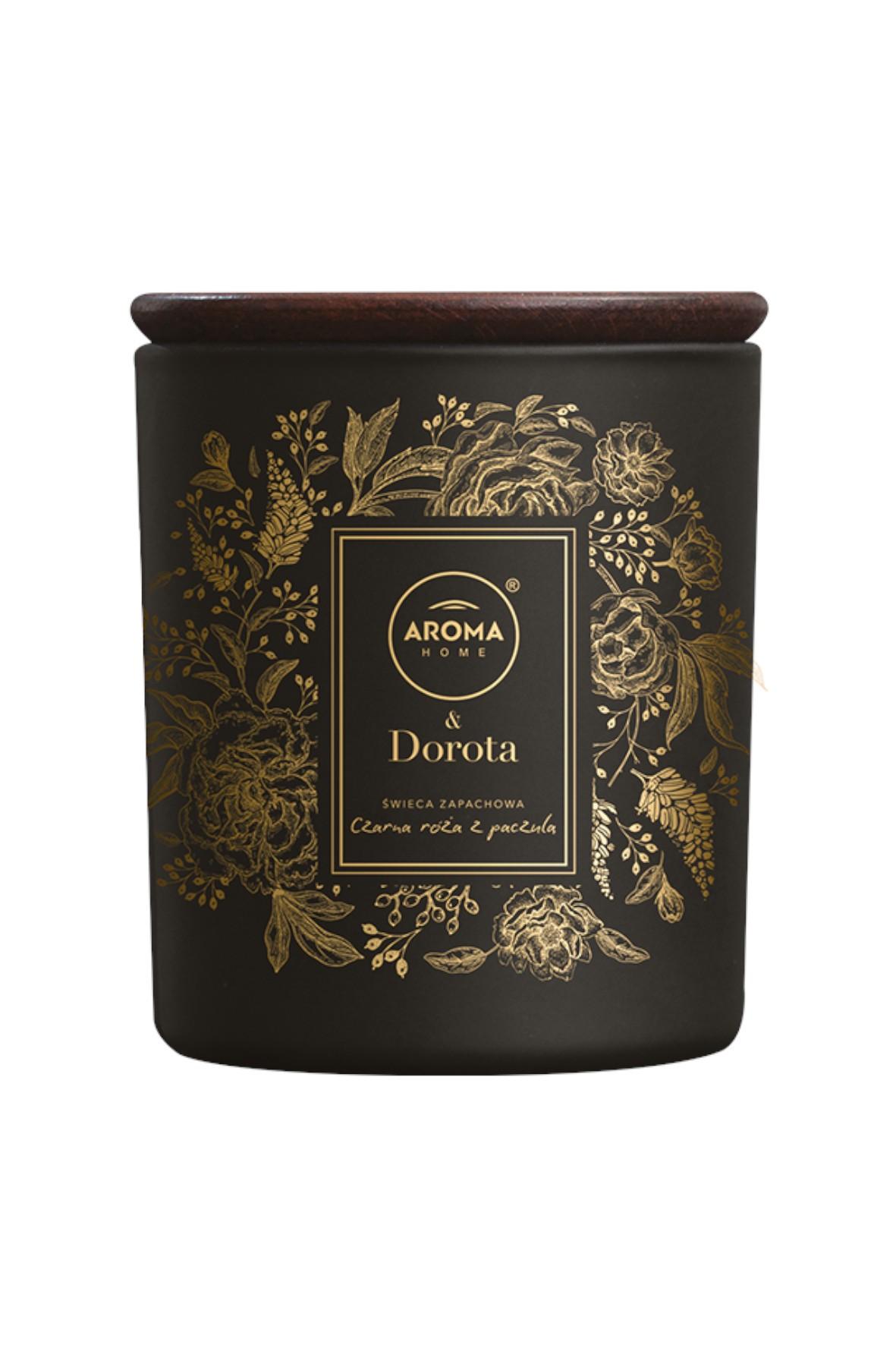 Aroma Home & Dorota Świeca Czarna Róża z Paczulą 260ml/ 150g