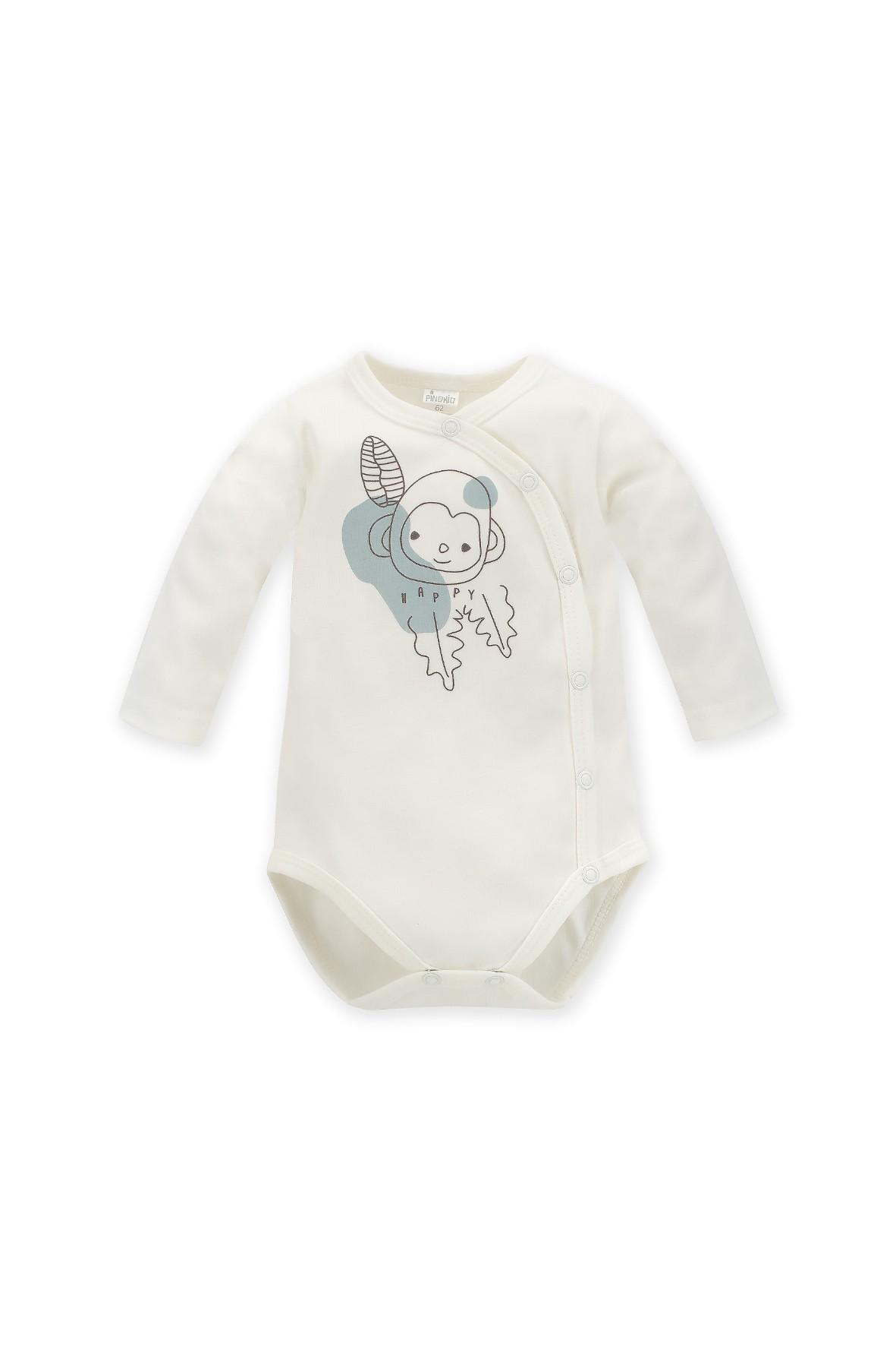 Bawełniane kopertowe body niemowlęce SLOW LIFE