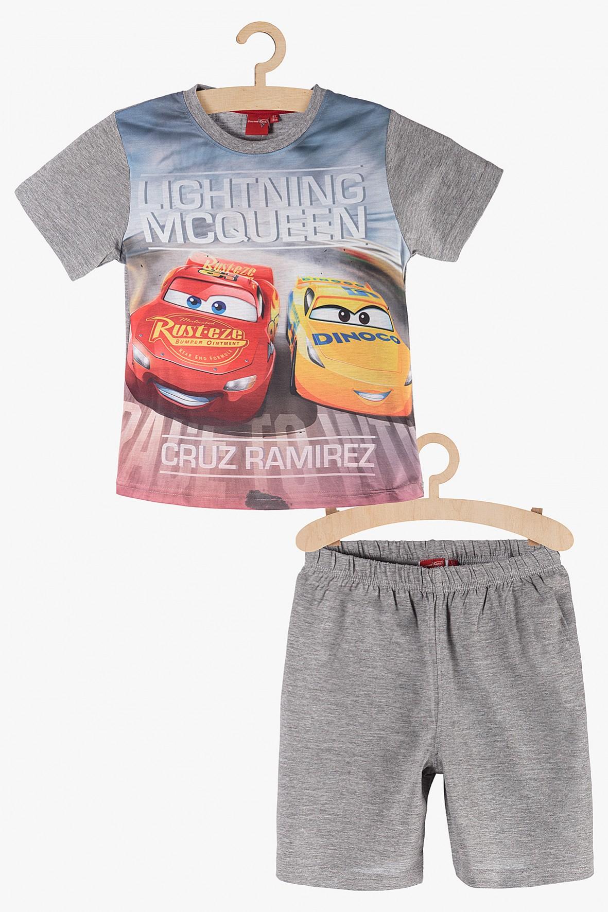 Pidżama chłopięca Auta szara