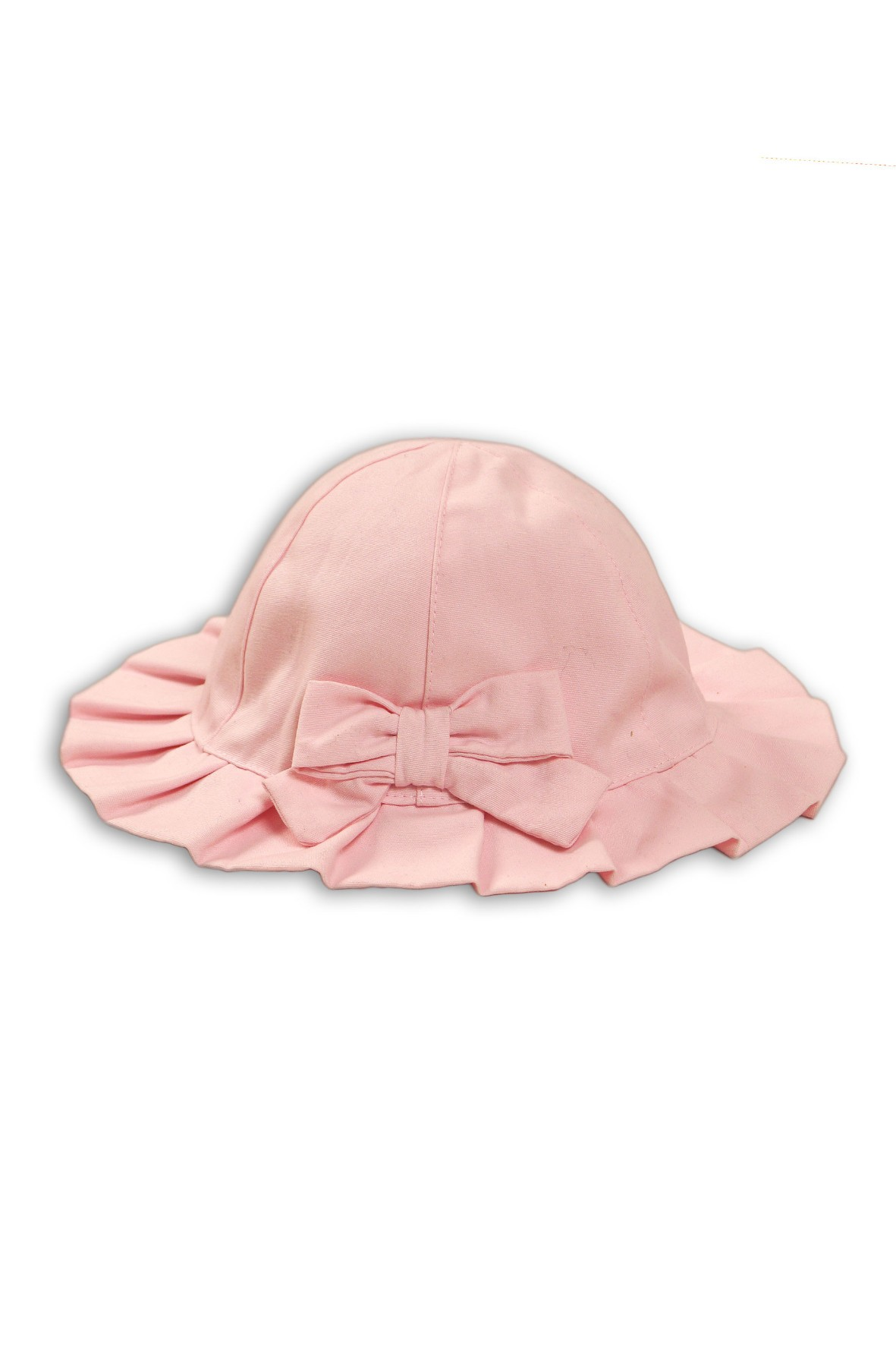 Kapelusz dziewczęcy różowy bawełniany