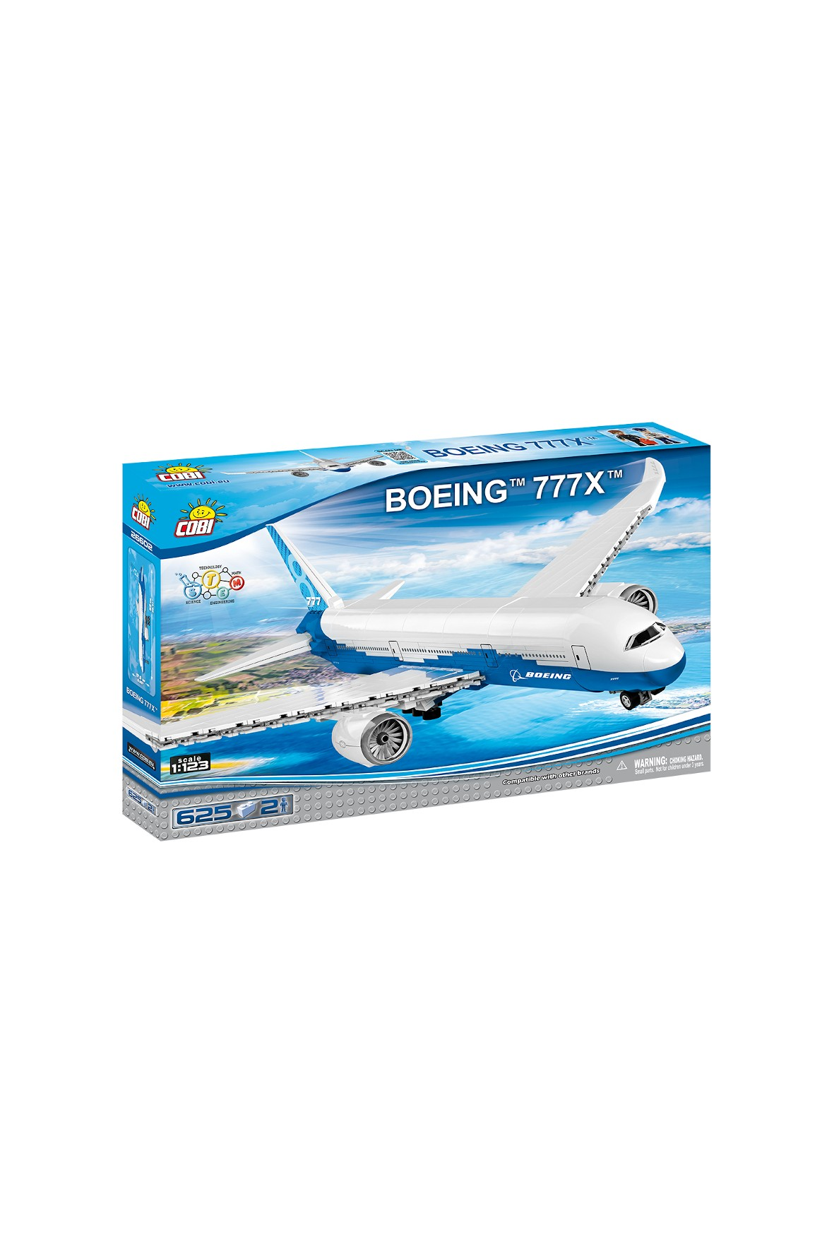 Klocki Cobi Boeing 777X 627el