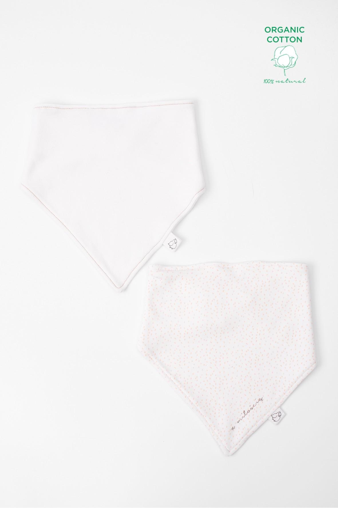 Apaszki niemowlęce z bawełny organicznej 2pak
