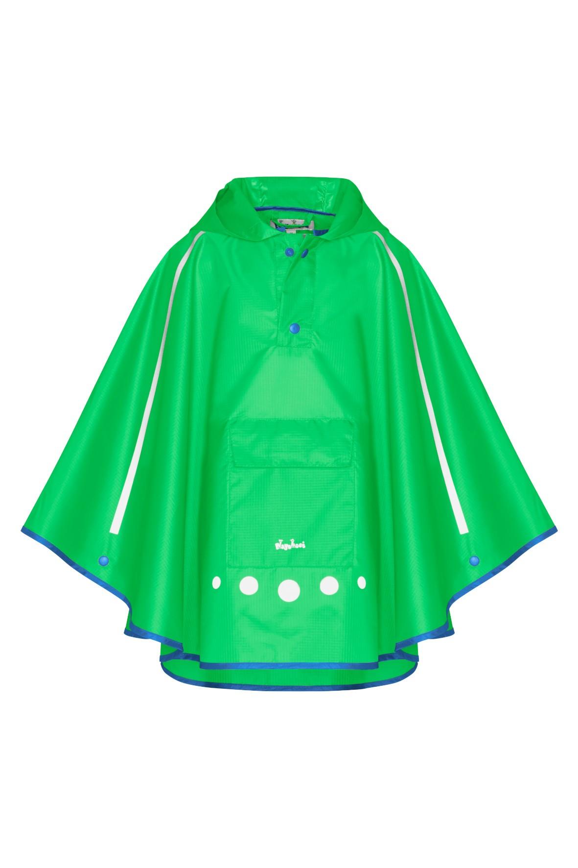 Poncho przeciwdeszczowe składane do torebki zielone