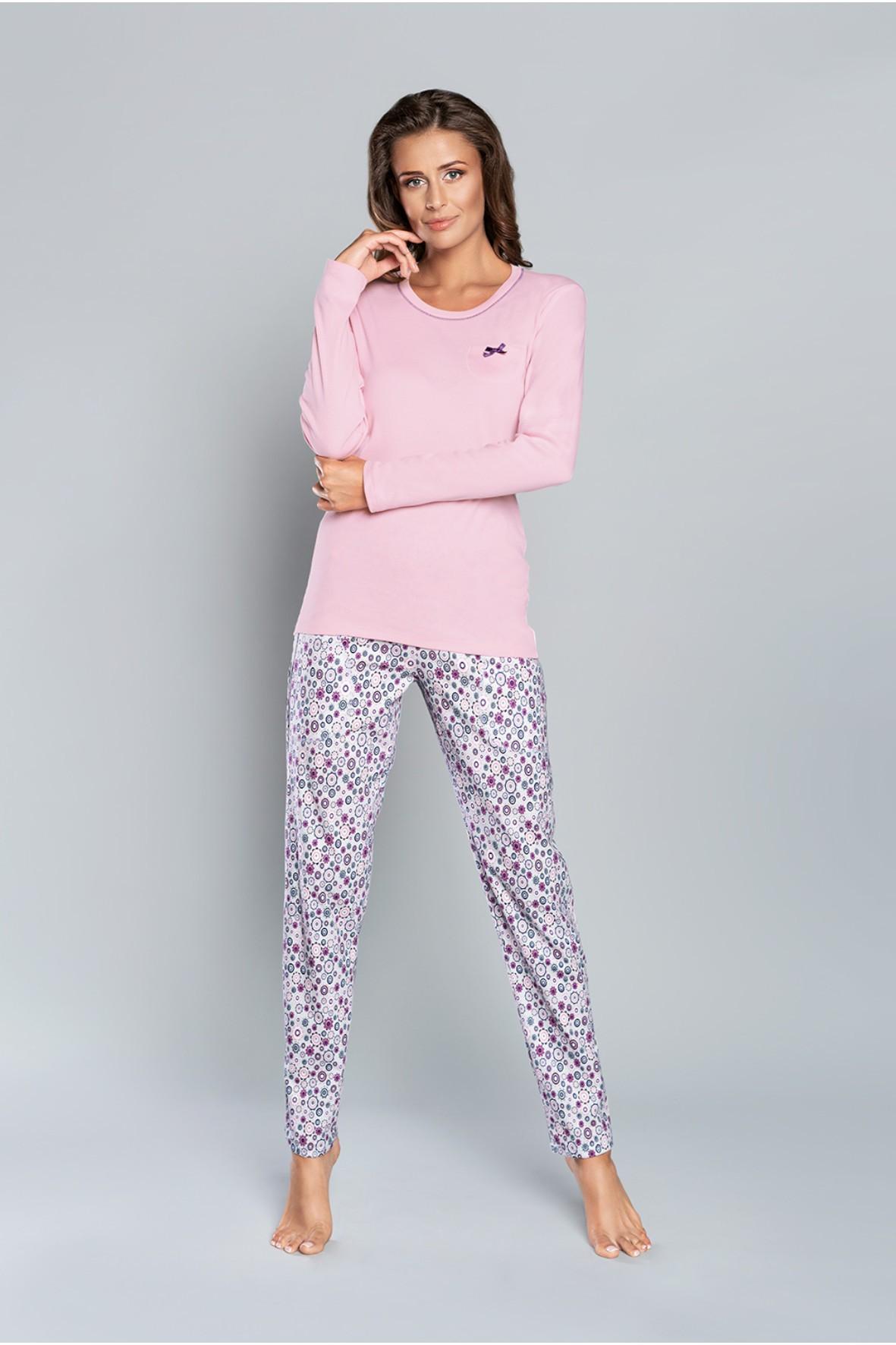 Piżama Lira długi rękaw, długie spodnie