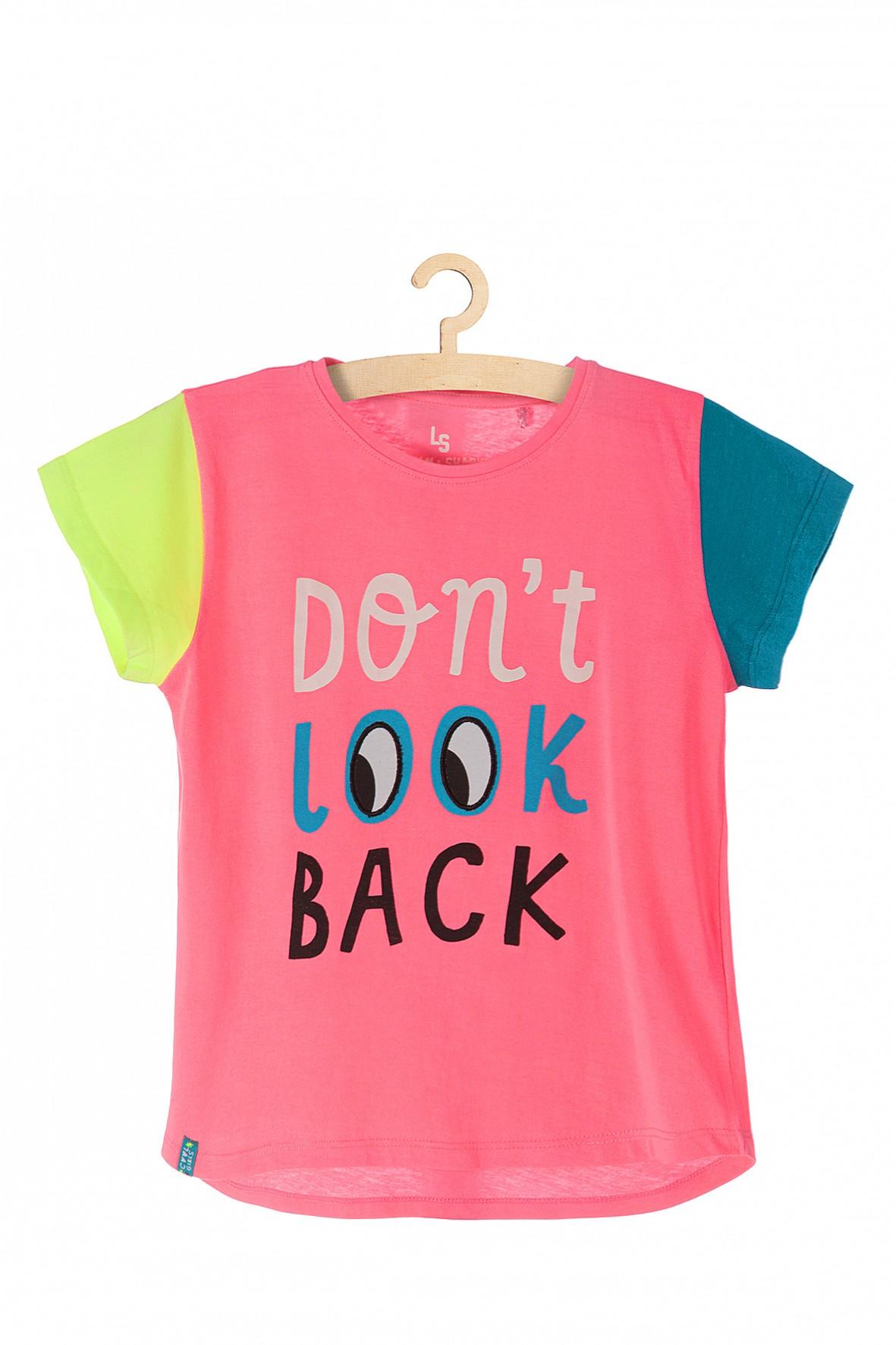 Koszulka dziewczęca dzianinowa w neonowych kolorach
