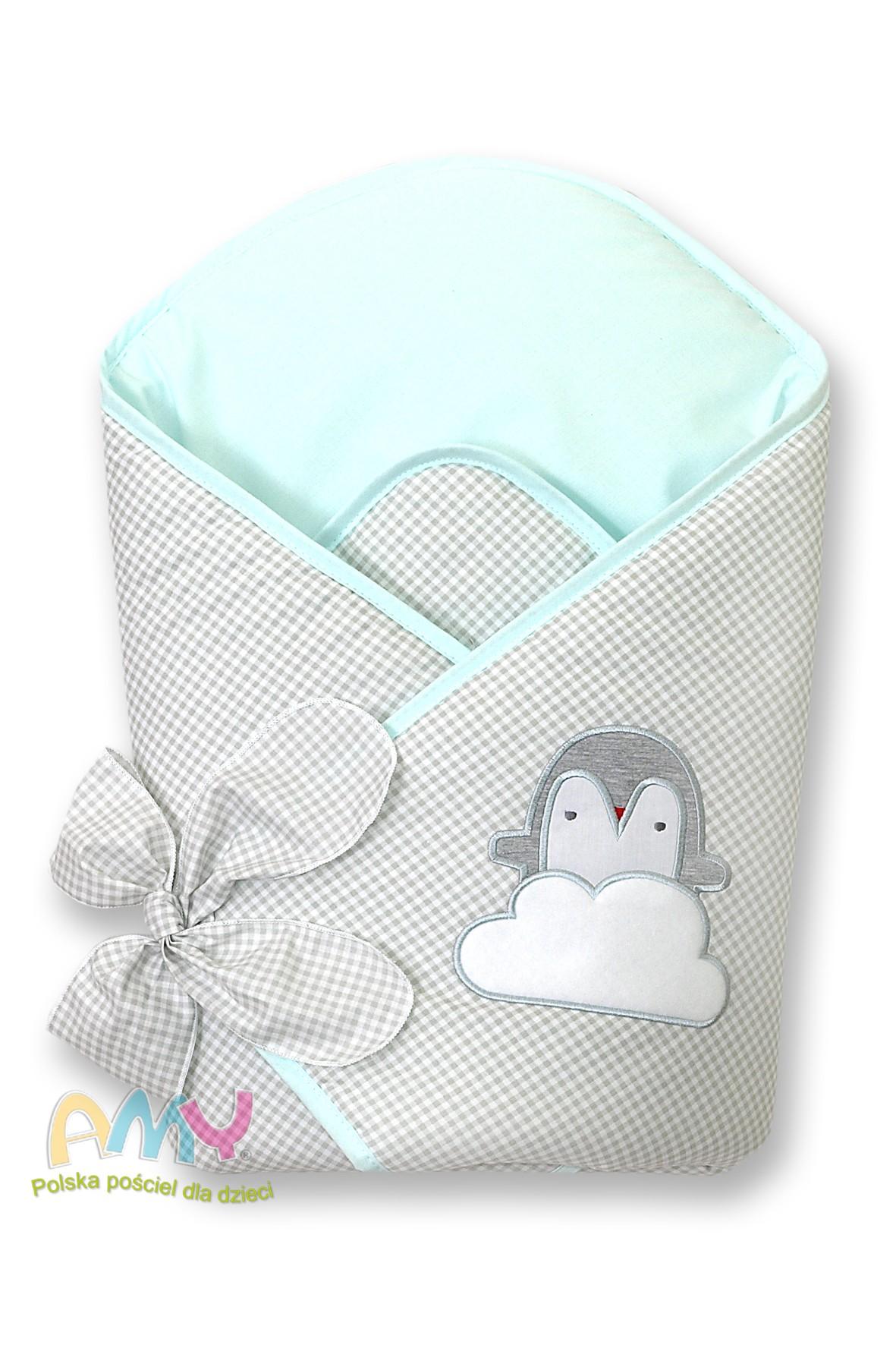 Becik dla dziecka Amy pingwiny miętowy