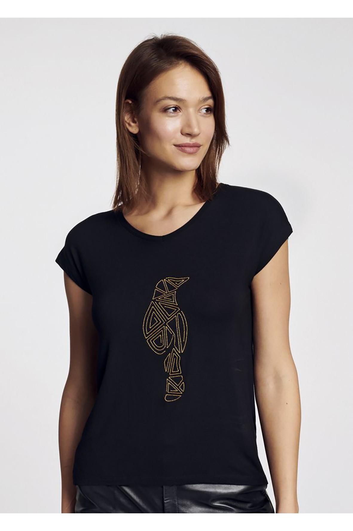 T-shirt damski czarny OCHNIK