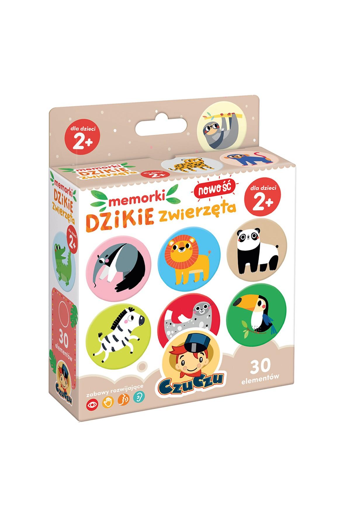 Gra Memorki Dzikie zwierzęta CzuCzu wiek 2+