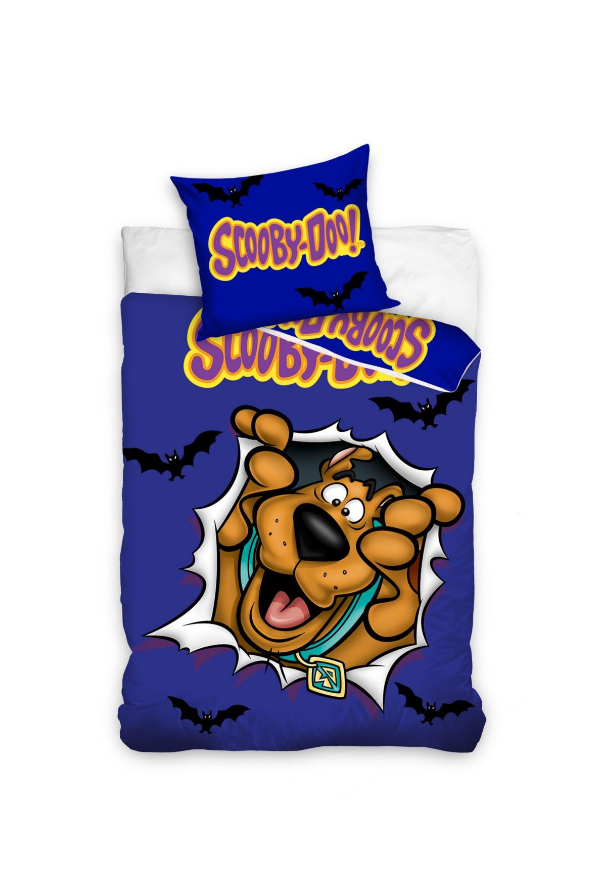 Pościel bawełna Scooby Doo 160x200+70x80 cm