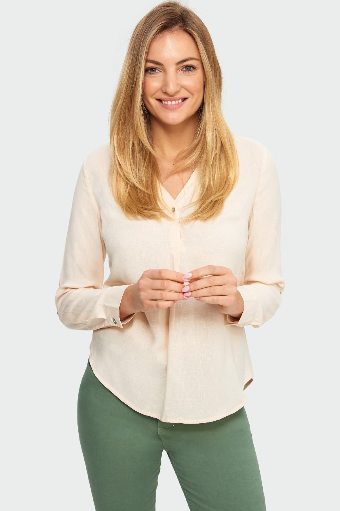 Bluzka damska koszulowa z długim rękawem
