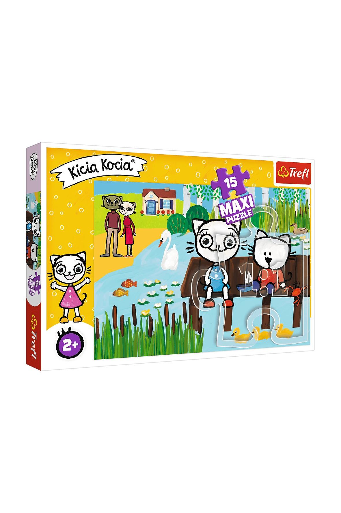 Puzzle Trefl 15 MAXI -Kicia Kocia nad jeziorem wiek 2+