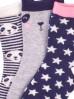 Skarpetki dziewczęce z pandą 3-pak