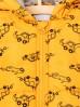 Kurtka niemowlęca żółta w autka