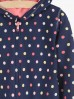 Granatowa bluza dziewczęca w kolorowe kropki