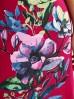 Różowa sukienka z dzianiny - mini - rozmiar XS