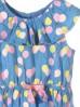 Sukienka dziewczęca bawełniana niebieska w kolorowe baloniki