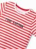 T-shirt niemowlęcy w paski z napisem- Mini kapitan