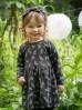 Sukienka dzianinowa- grafitowa w liście