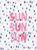 T-shirt dla dziewczynki z różowym napisem SUN
