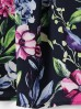Luźna sukienka w kwiaty -midi