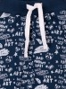 Dresowe spodnie dla niemowlaka-granatowe z miękkiej dzianiny