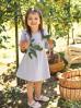 Bawełniana sukienka z falbankami - szara