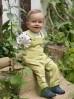 Ogrodniczki niemowlęce bawełniane - STAY GREEN