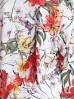 Bluzka damska ecru w kwiaty z dekoltem w łódkę