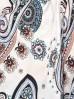 Bluzka damska z wiązaniem na rękawach we wzór
