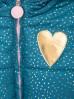 Kurtka dla niemowlaka- złote serduszko i ozdobna falbanka