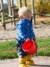 Spodnie przeciwdeszczowe Playshoes-granatowe