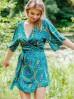 Kimonowa sukienka ze zwiewnej tkaniny