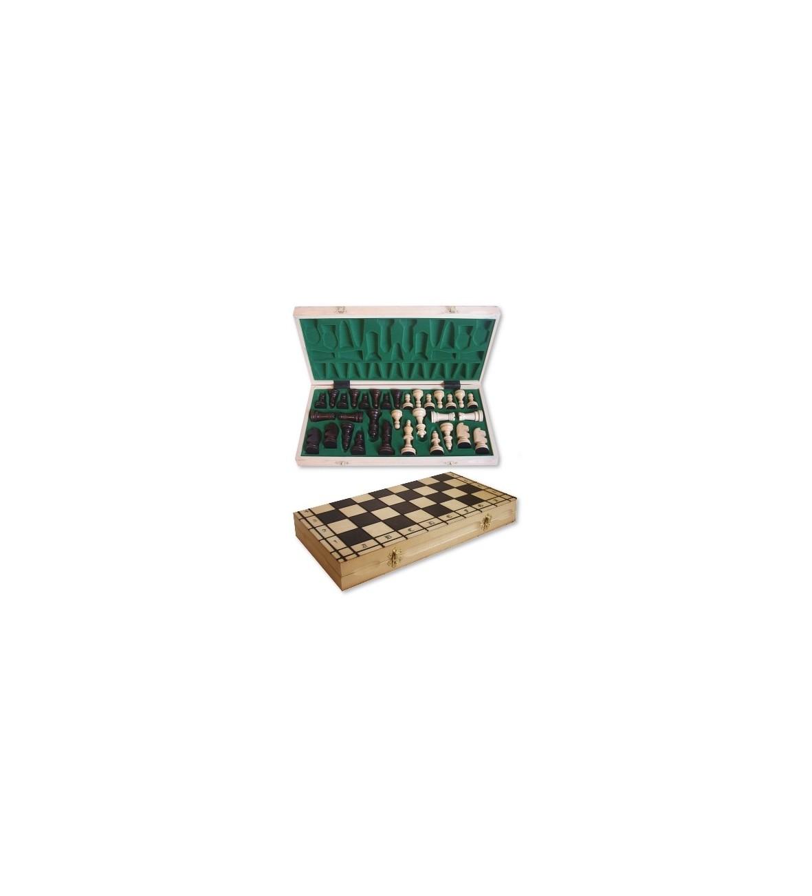 Filipek drewniane szachy rycerskie