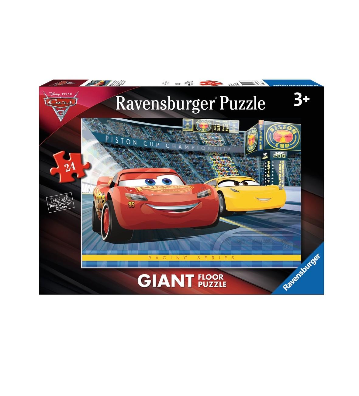 Puzzle 24 elementy Auta 3, podłogowe