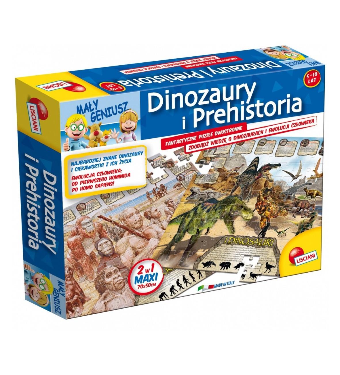 LISCIANIGIOCHI Geopuzzle dinozauryMały Geniusz