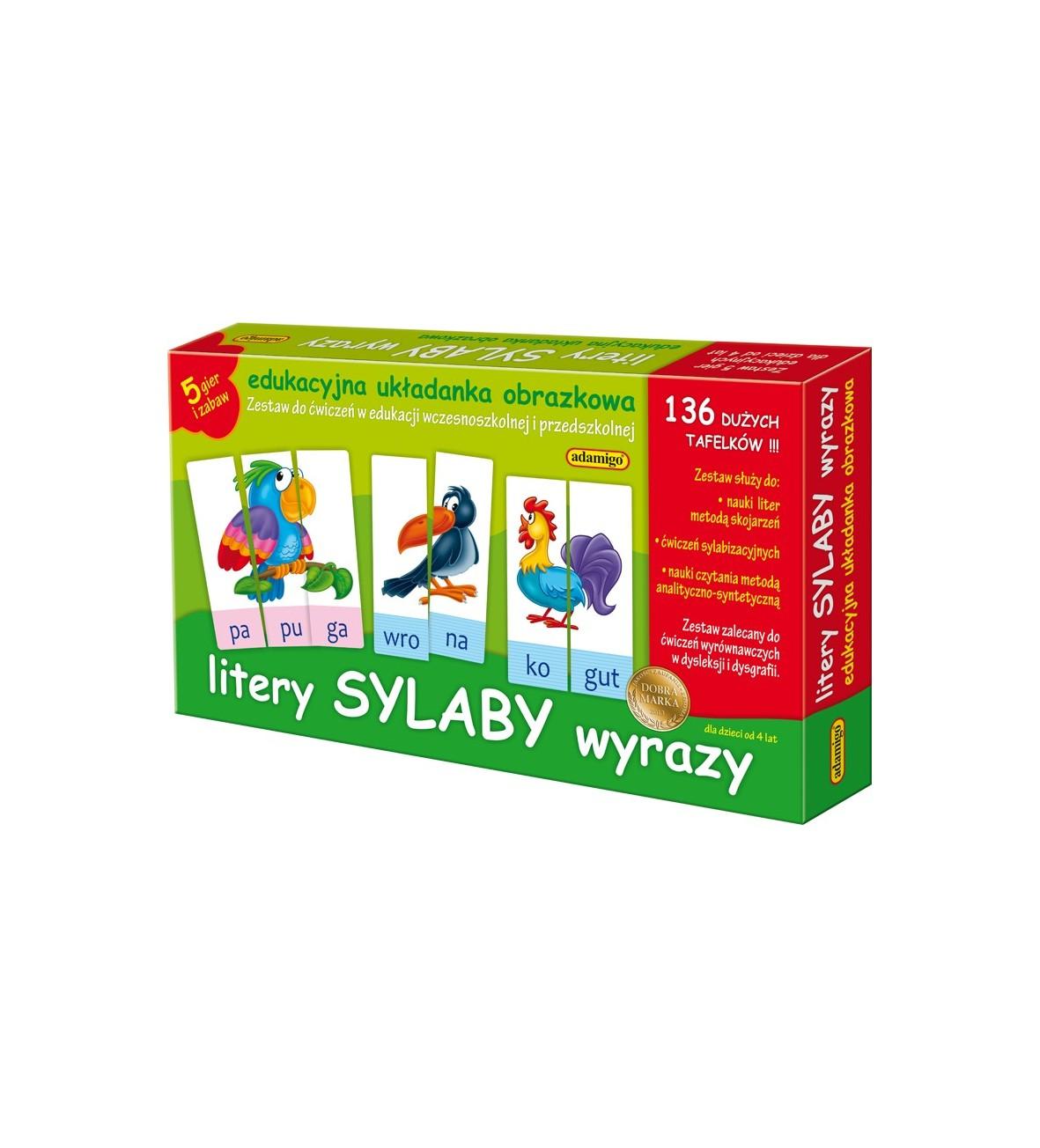 Zest. Edukacyjny Litery Sylaby