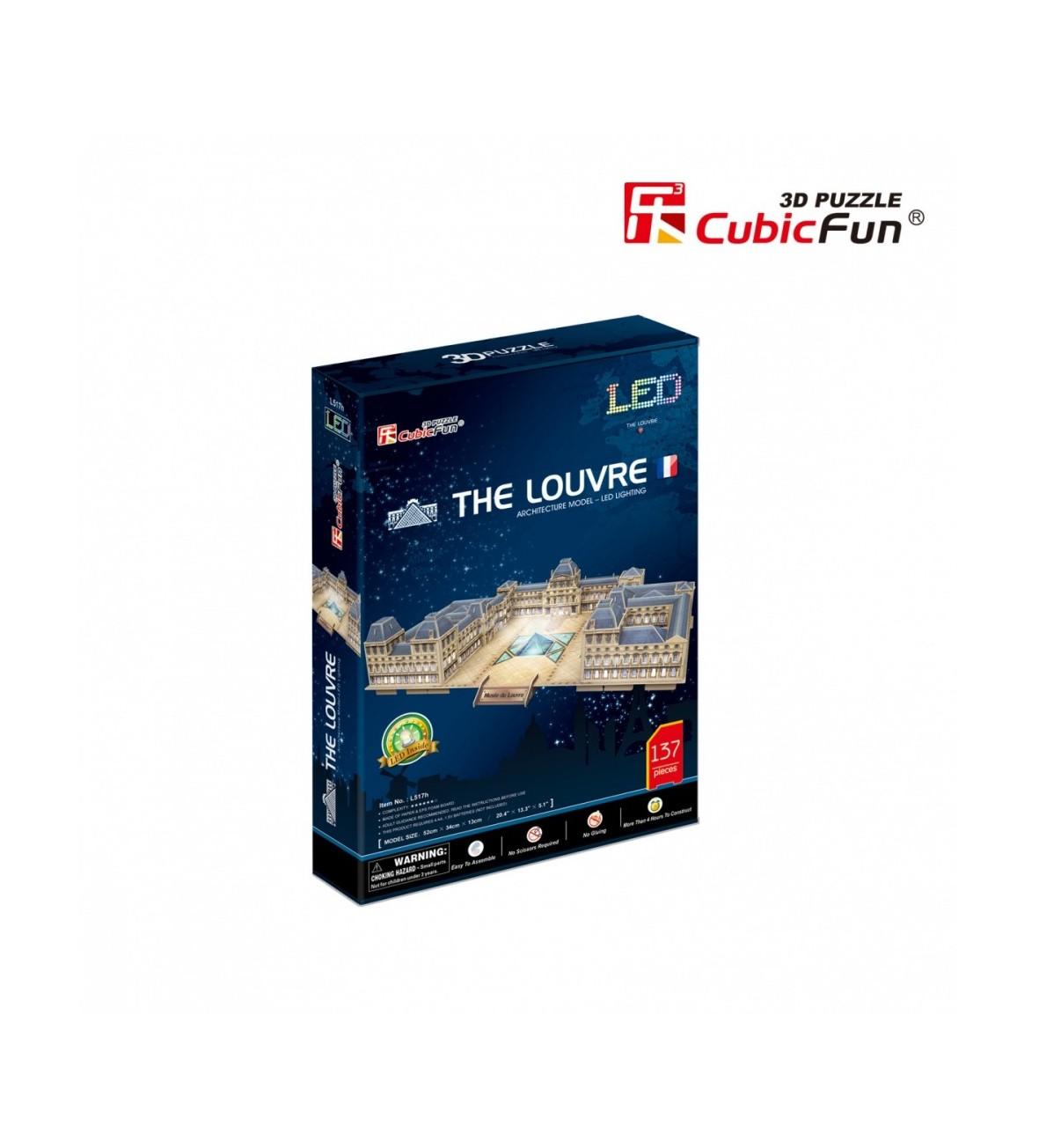 PUZZLE 3D Palac Luwr LED