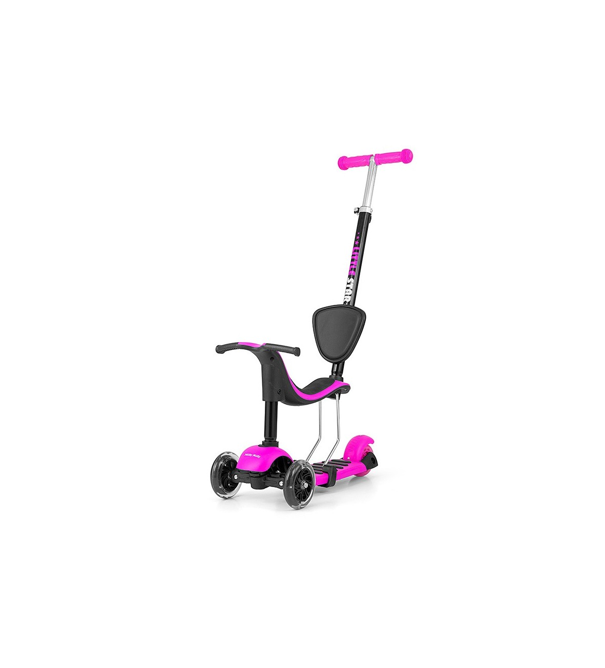 Hulajnoga Scooter Little Star Pink