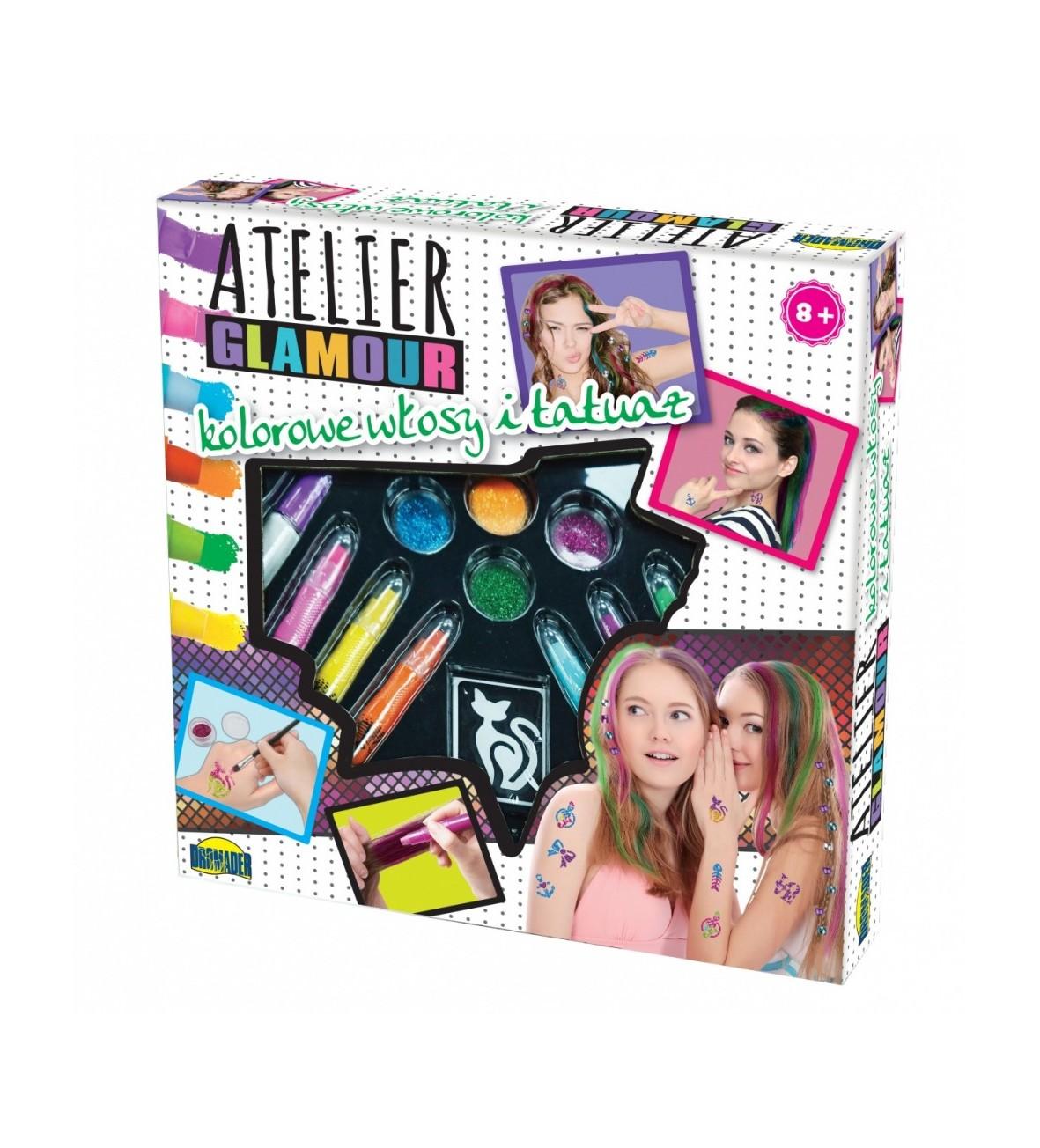Atelier Glamour Kolorowe włosy i tatuaże