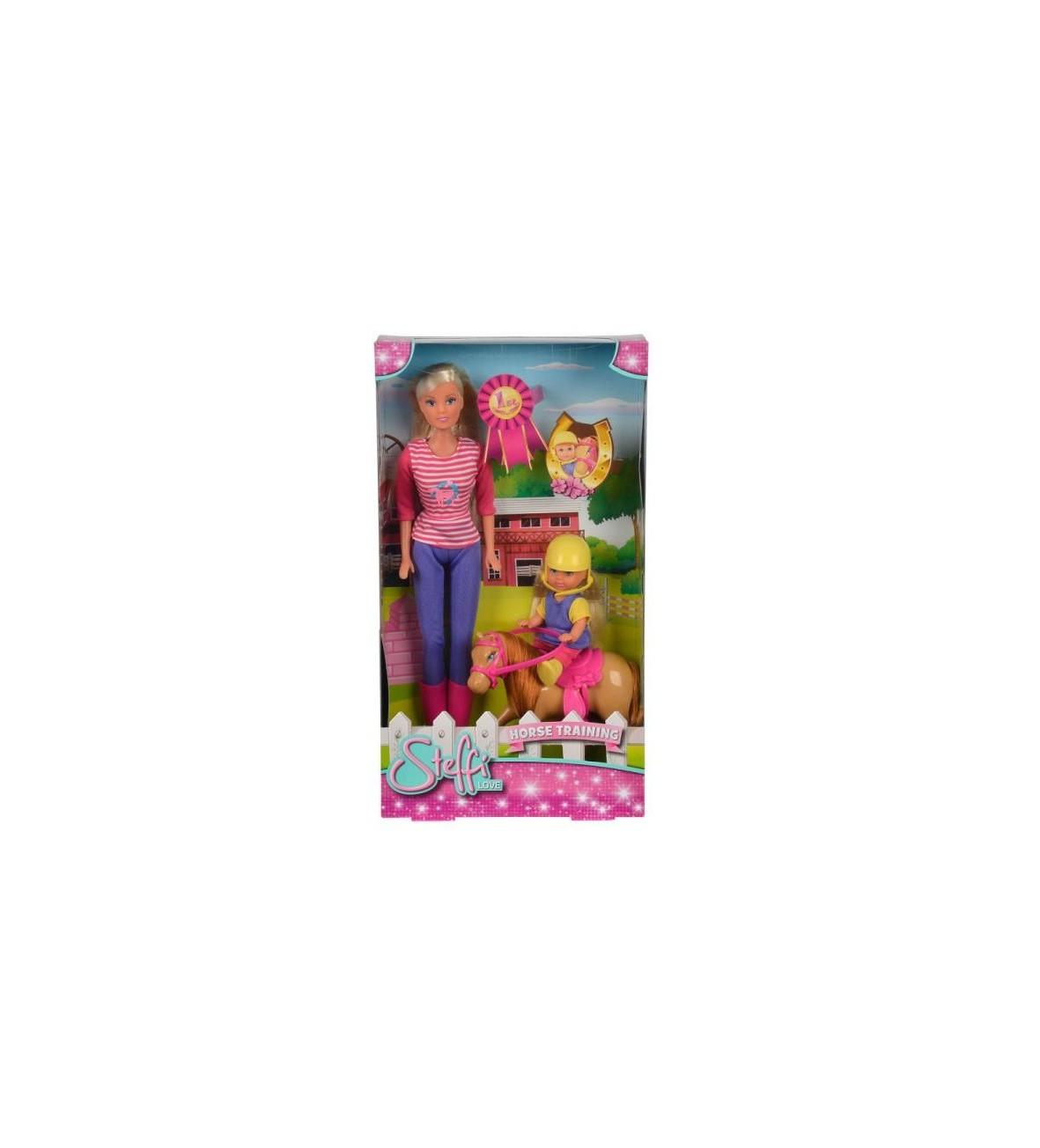 Steffi i Evi z konikiem