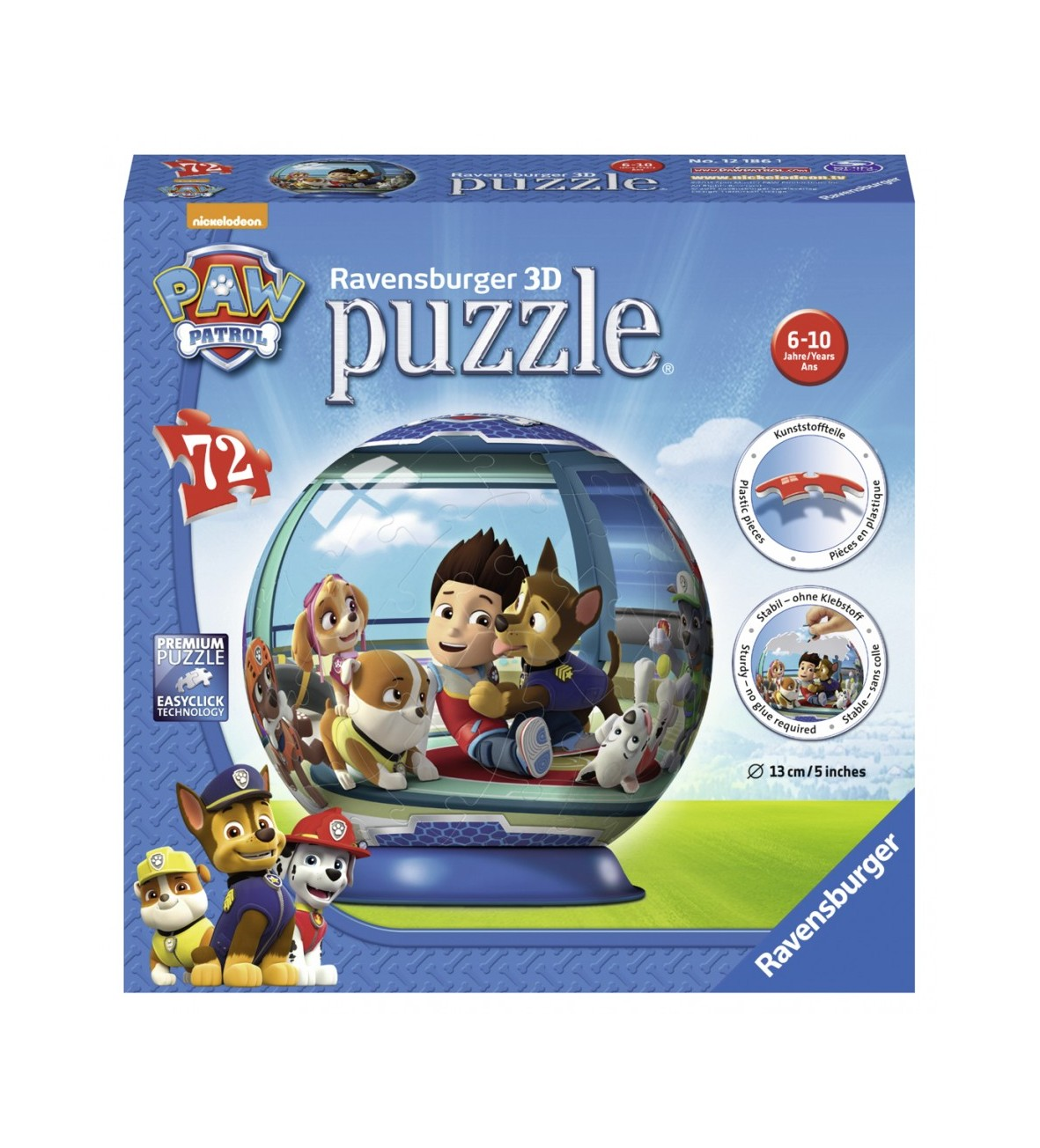 RAVEN Puzzle 3D Psi Patrol, kula