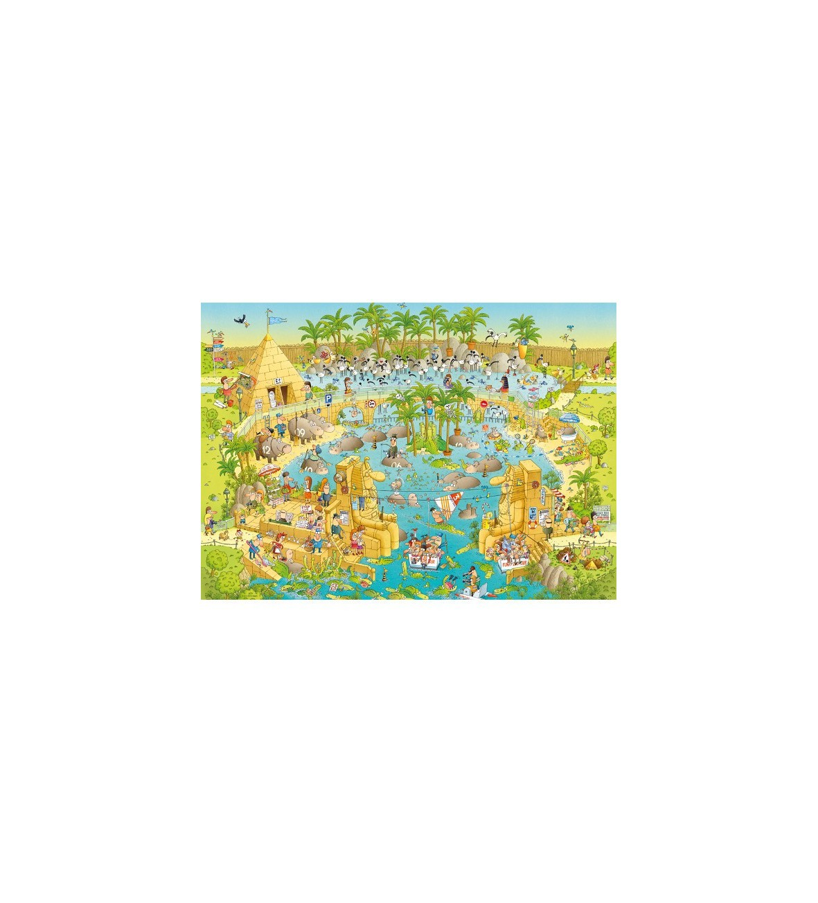 Puzzle 1000 EL. Nile Habitat, Degono