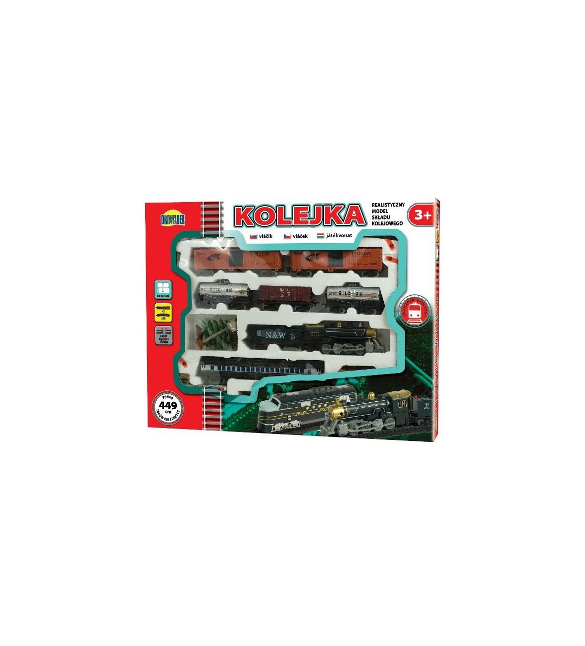 Kolejka Dromader - Wielki zestaw na baterie 449 cm torów 7 wagonów