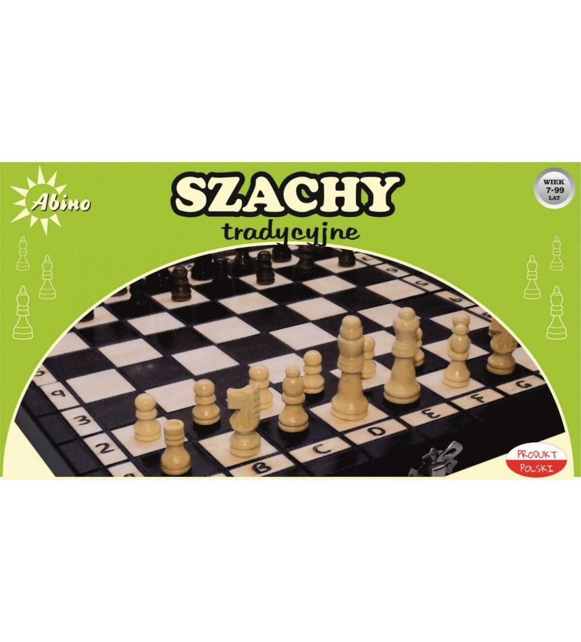 Gra Szachy drewniane w pudełku