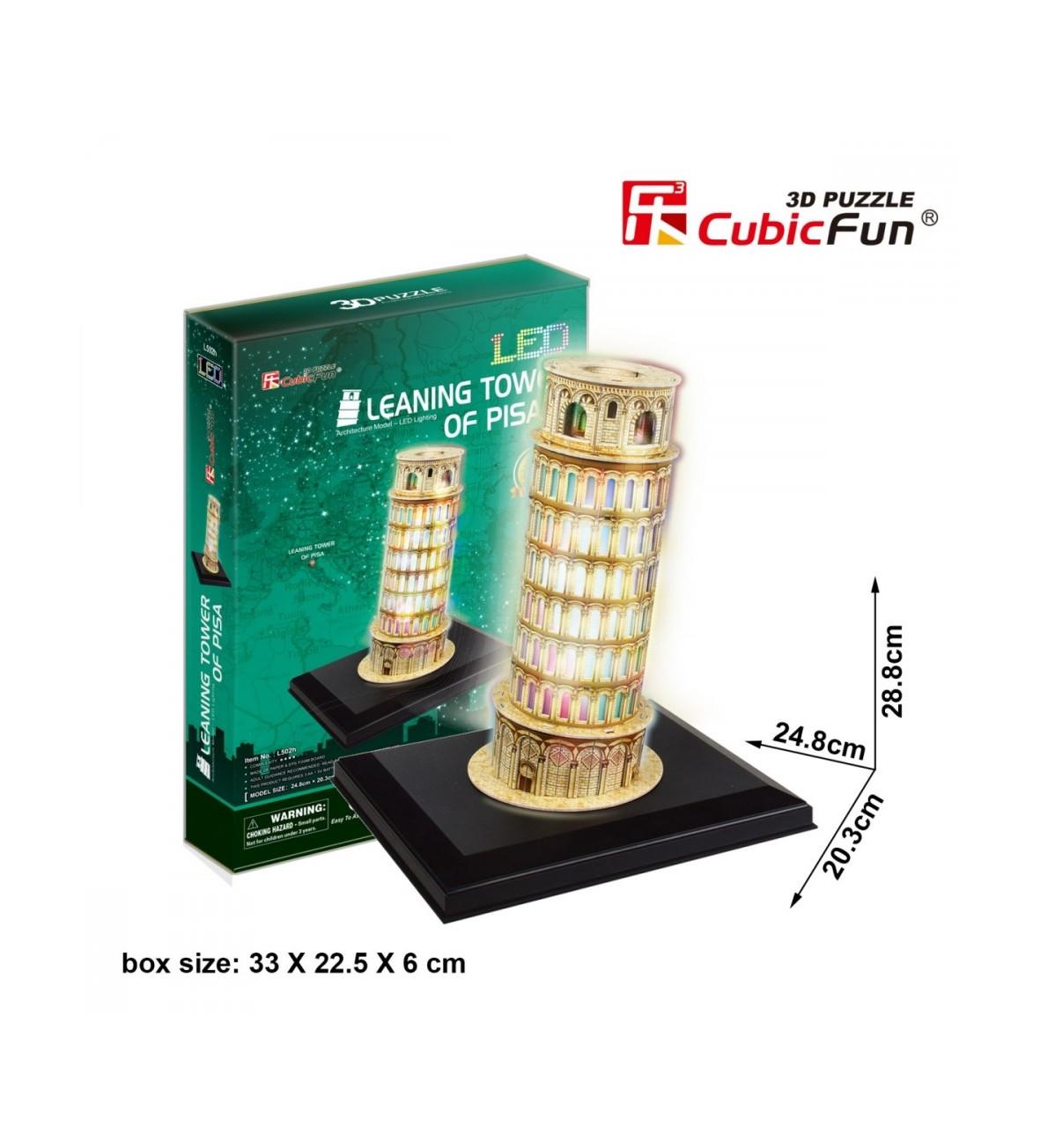 Puzzle 3D krzywa wieża Pisa
